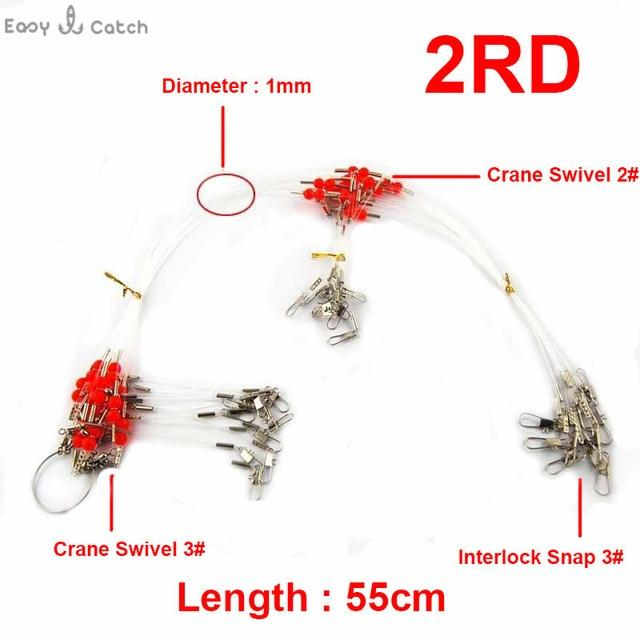 12Pcs 35Cm 55Cm Nylon Monofilament Fishing Wire Leaders Arms Trace Spinning-Fishing Lines-Fishing equipment Store-2RD 55cm-Bargain Bait Box