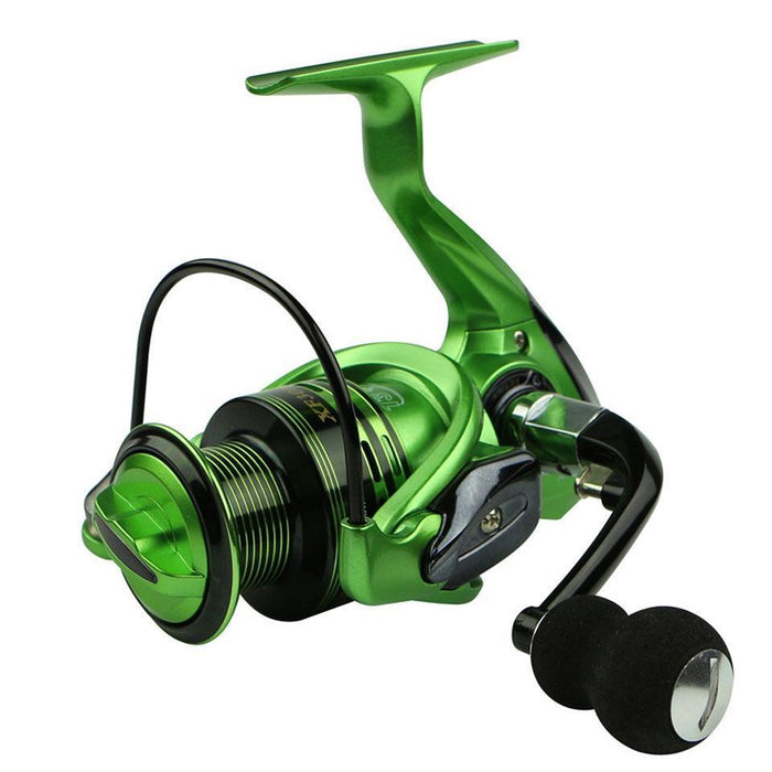 13+1Bb Spinning Fishing Reel System Metal Spool Long Casting Carp Fishing-Spinning Reels-KoKossi Outdoor Sporting Store-Green-1000 Series-Bargain Bait Box