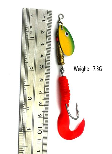 13.6G 9.5Cm Silver Spinner Spoon Metal Muskys Fishing Tackle Orange Feather Hook-Inline Spinners-Bargain Bait Box-58-Bargain Bait Box