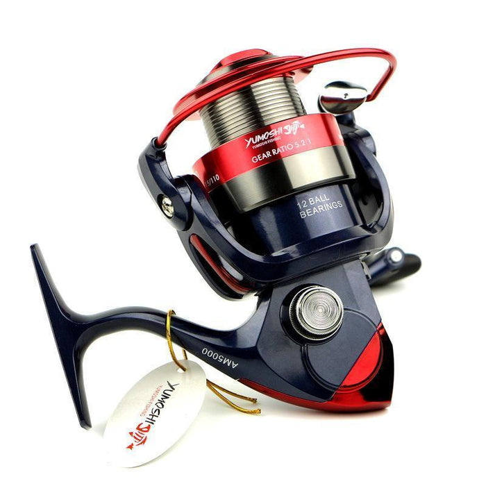 13Bbs Big Spool Long Casting Spinning Fishing Reel With Double Main-Spinning Reels-Sports fishing products-2000 Series-Bargain Bait Box