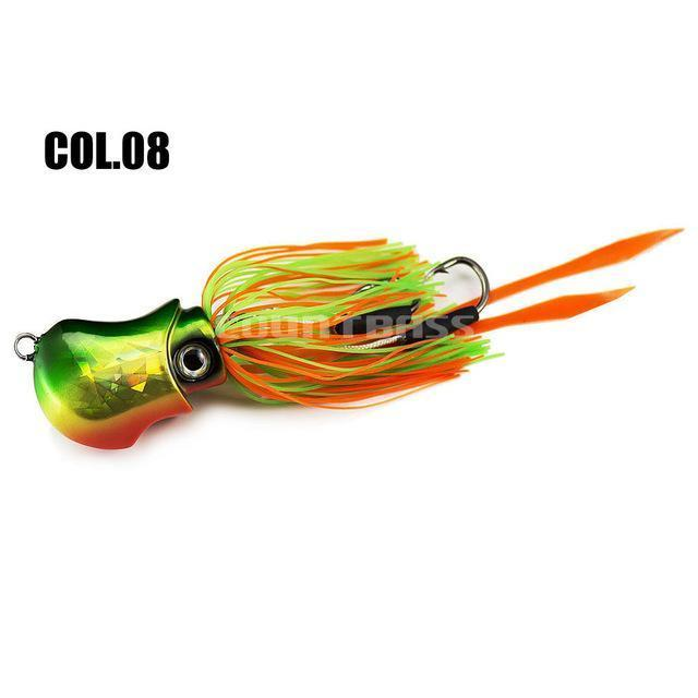 150G 5.3Oz Salty Rubber Bottom Madai Snapper Jig, Saltwater Fishing Jigging-countbass Official Store-Col 08-Bargain Bait Box