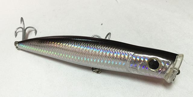 15.5Cm Poper Bait Sea Bait Floating Fishing Lure China Tackle Big Game Fishing-Musky & Pike Baits-Bargain Bait Box-Dark Grey-Bargain Bait Box