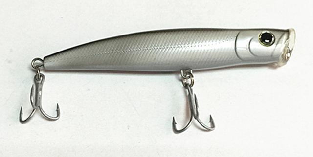 15.5Cm Poper Bait Sea Bait Floating Fishing Lure China Tackle Big Game Fishing-Musky & Pike Baits-Bargain Bait Box-Light Grey-Bargain Bait Box