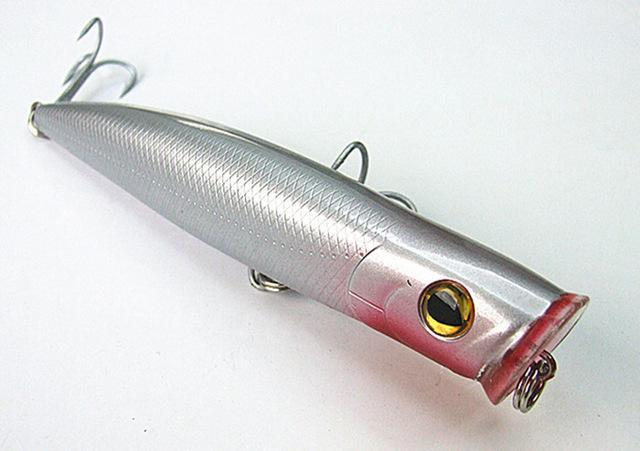 15.5Cm Poper Bait Sea Bait Floating Fishing Lure China Tackle Big Game Fishing-Musky & Pike Baits-Bargain Bait Box-silver-Bargain Bait Box