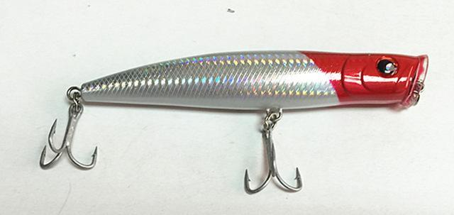 15.5Cm Poper Bait Sea Bait Floating Fishing Lure China Tackle Big Game Fishing-Musky & Pike Baits-Bargain Bait Box-White-Bargain Bait Box