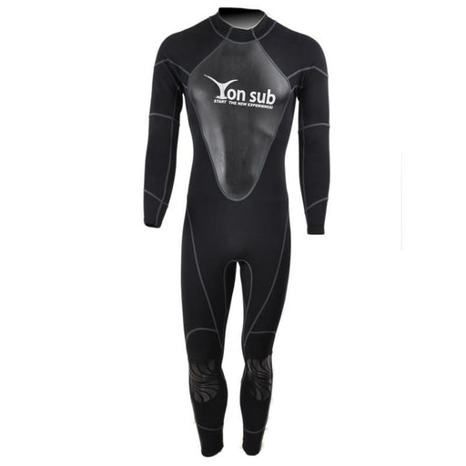 1.5Mm Diving Wetsuit Neoprene Scuba Surf And Spearfishing Suit Snorkeling Suit-Spearfishing-Bargain Bait Box-Black-M-Bargain Bait Box
