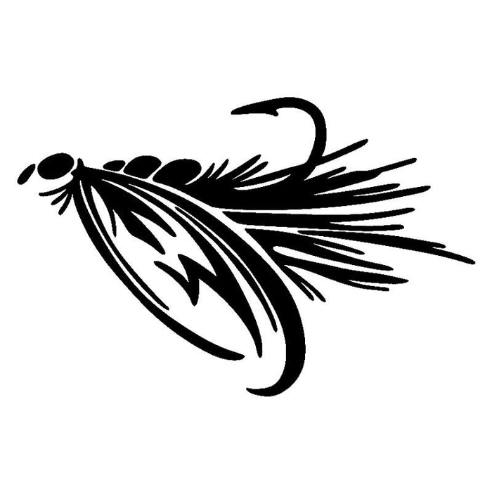 16.5Cm*10.9Cm Lure Creative Stickers Decals Motorcycle Black/Silver S3-5528-Fishing Decals-Bargain Bait Box-Black-Bargain Bait Box