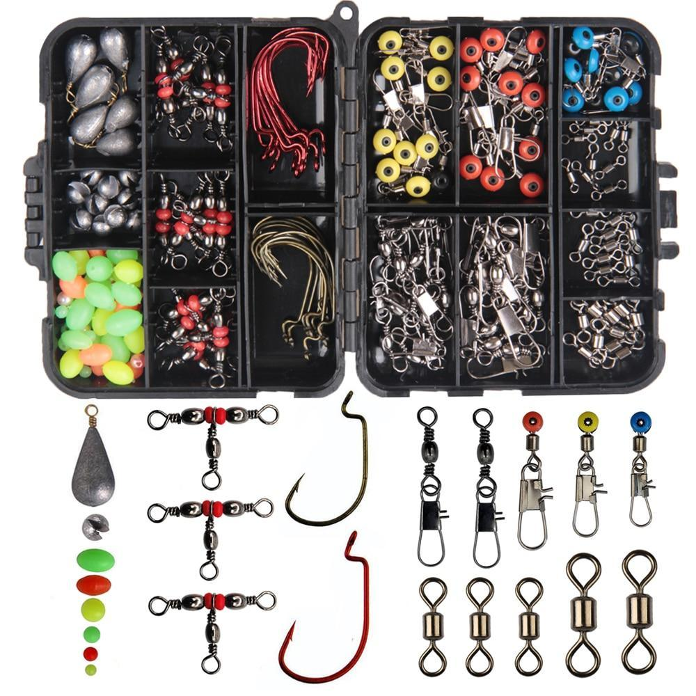 165Pcs Fishing Accessories Kit With Fishing Swivels Hooks Sinker Weights-Fishing Tackle Boxes-shaddock fishing Official Store-Fishing Tackle-Bargain Bait Box