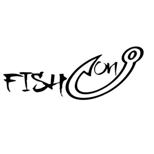 16Cmx6.2Cm Fish On Fun Fishing Vinyl Decals Personalized Car Stickers-Fishing Decals-Bargain Bait Box-Black-Bargain Bait Box