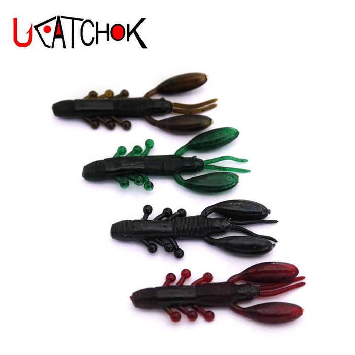 16Pcs/Pack Soft Shrimp Soft Baits 8Cm 2.2G Skull Shrimp S Skeleton Shrimp Rubber-Craws-Bargain Bait Box-Bargain Bait Box