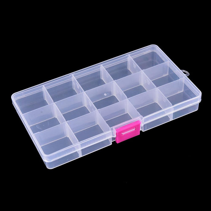 17.4*3.9*2.2 Cm 15 Compartments Bait Hooks Tackle Waterproof Storage Box Case-Compartment Boxes-Bargain Bait Box-Bargain Bait Box