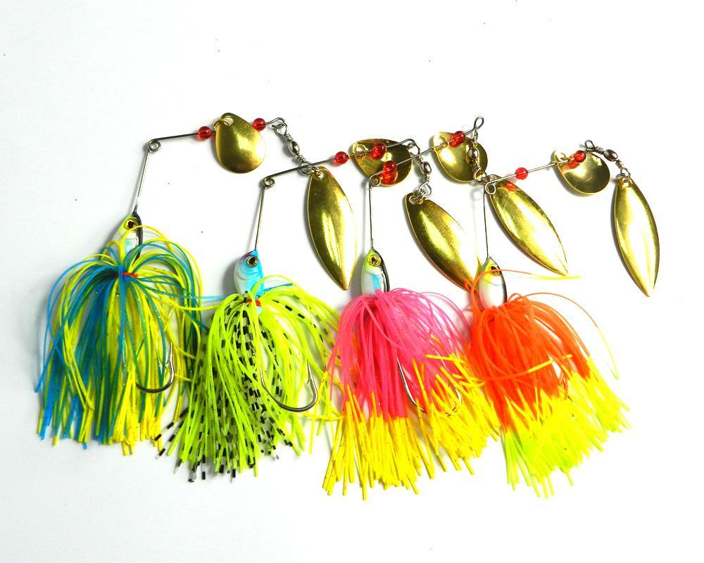 19.5G Spinnerbait Rubber Jig Metal Bait Spinner Spoon Sequin Fishing Tackle-Spinnerbaits-Bargain Bait Box-1-Bargain Bait Box
