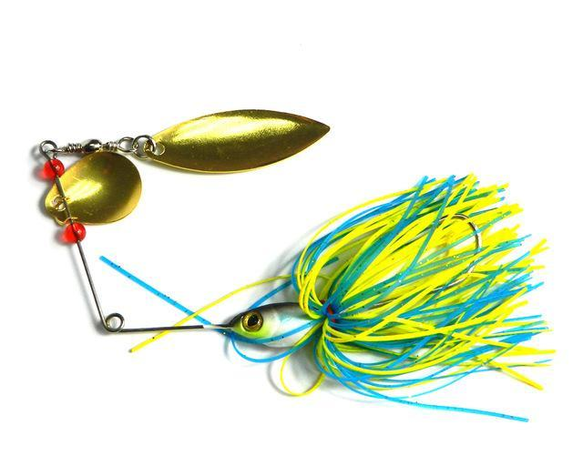 19.5G Spinnerbait Rubber Jig Metal Bait Spinner Spoon Sequin Fishing Tackle-Spinnerbaits-Bargain Bait Box-4-Bargain Bait Box