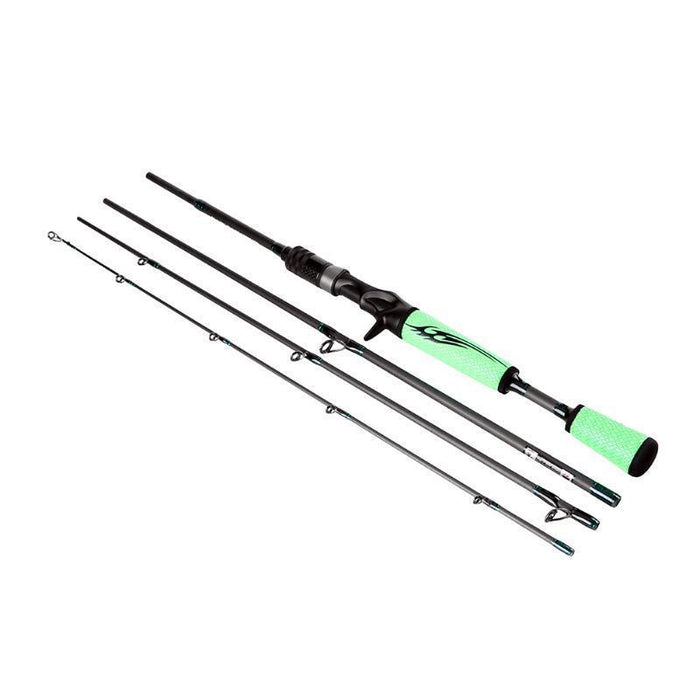1.98M Lure Rod 4 Section Carbon Anti-Slip Spinning Fishing Rod Travel Rod-Spinning Rods-Under the Stars123-Bargain Bait Box