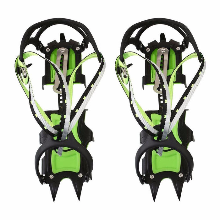 1Pair 14 Teeth Bundled Non Slip Crampons Ice Fishing Expeditions Snow Climbing-Ice Fishing Tools-Bargain Bait Box-Bargain Bait Box