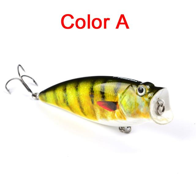 "1Pc 3.74""-9.5Cm 16.65G Fishing Tackle Popper Lure 6 Color Fishing Bait 4# Hook-Top Water Baits-Bargain Bait Box-Color A-Bargain Bait Box"