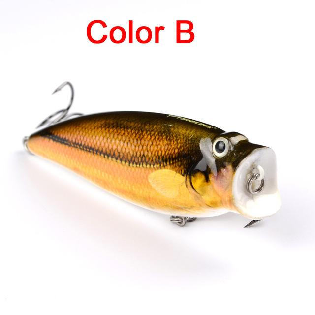 "1Pc 3.74""-9.5Cm 16.65G Fishing Tackle Popper Lure 6 Color Fishing Bait 4# Hook-Top Water Baits-Bargain Bait Box-Color B-Bargain Bait Box"