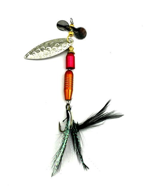 1Pc 4 Style Sequin Bass Spoon Spinnerbait Metal Feather Fishing Tackle Hooks-Inline Spinners-Bargain Bait Box-SP178-Bargain Bait Box
