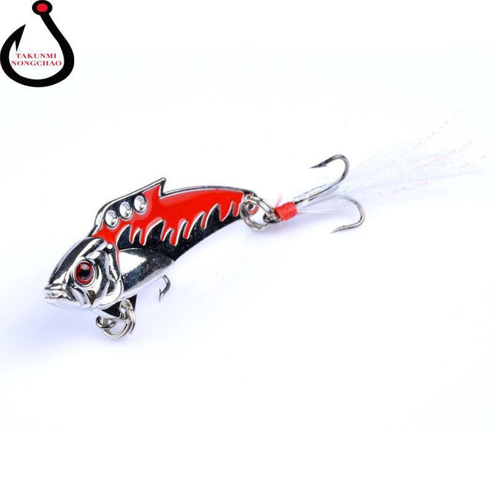 1Pc 8G Fishing Vibes Lipless Ultralight Micro Lures Trout Lures Hard Body Bait-Blade Baits-Bargain Bait Box-1-Bargain Bait Box