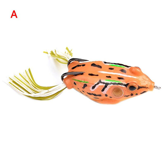 1Pc Frog Lures Fishing Bait Tackle Hard Bait-Frog Baits-Bargain Bait Box-White-Bargain Bait Box