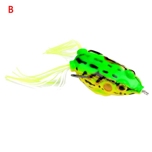 1Pc Frog Lures Fishing Bait Tackle Hard Bait-Frog Baits-Bargain Bait Box-Yellow-Bargain Bait Box