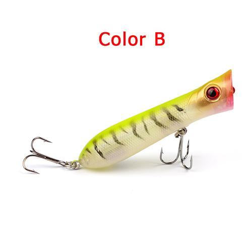 1Pc Plastic Hard Popper 10 Colors Bass Baits 11.68G-0.412Oz Hard Lures-Top Water Baits-Bargain Bait Box-Color B-Bargain Bait Box