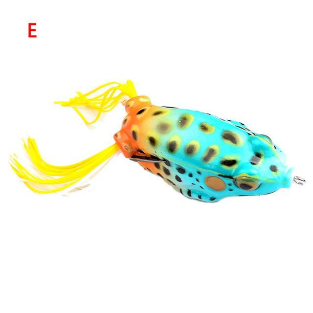 "1Pc Soft Bait Frog Fish 2.2""-5.5Cm Fshing Bait For Black Fish Weever On Water-Frog Baits-Bargain Bait Box-E-Bargain Bait Box"