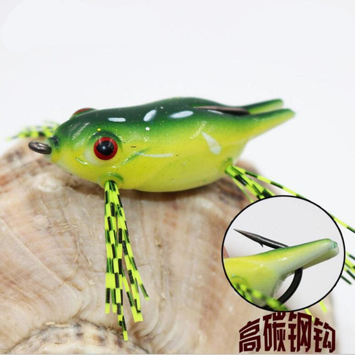 1Pc Suitable For Beginners Silica Gel Frog Soft Bait For Sea Bass River Fish-Frog Baits-Bargain Bait Box-01-Bargain Bait Box