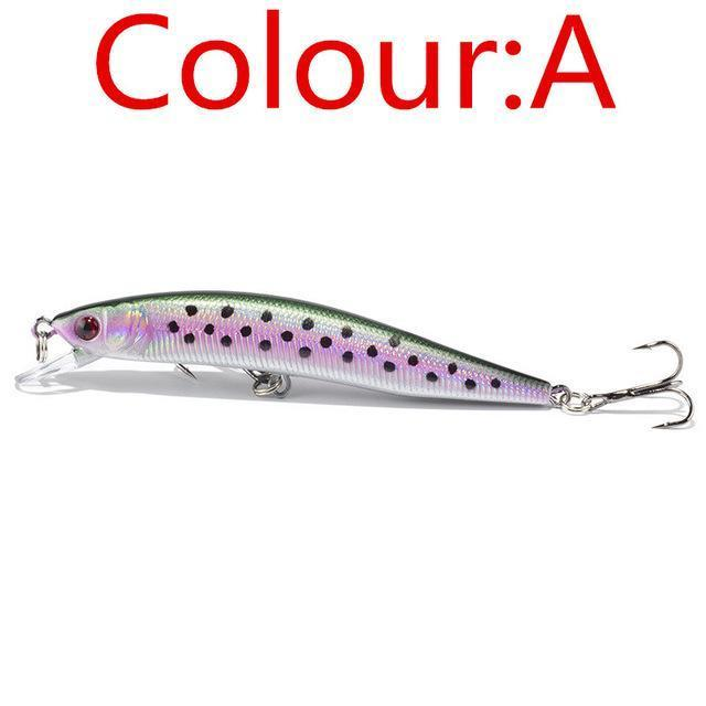 1Pcs 10Cm 8.5G Laser Minnow Wobblers Fishing Lure Pesca Hooks Fish Tackle-WDAIREN fishing gear Store-A-Bargain Bait Box