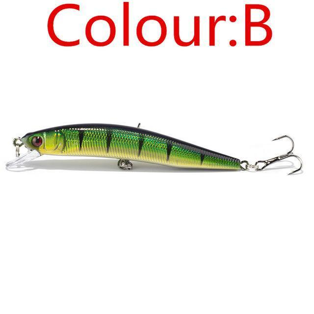 1Pcs 10Cm 8.5G Laser Minnow Wobblers Fishing Lure Pesca Hooks Fish Tackle-WDAIREN fishing gear Store-B-Bargain Bait Box