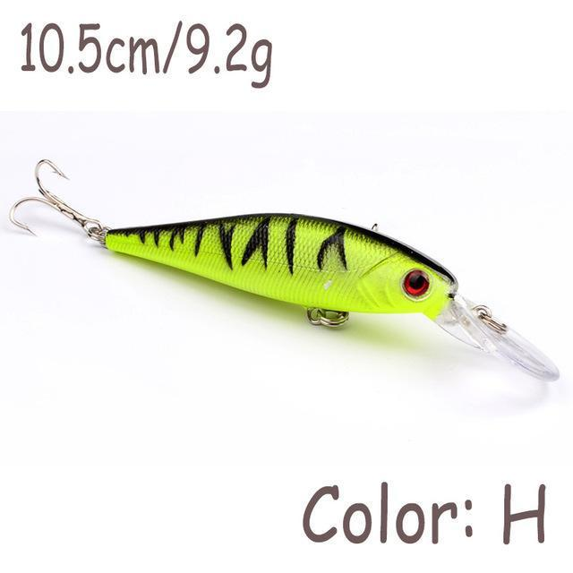 1Pcs 10Cm 9.2G Minnow Fishing Lure Wobbler Crankbait Artificial Hard Plastic-WDAIREN Fishing Store-H-Bargain Bait Box
