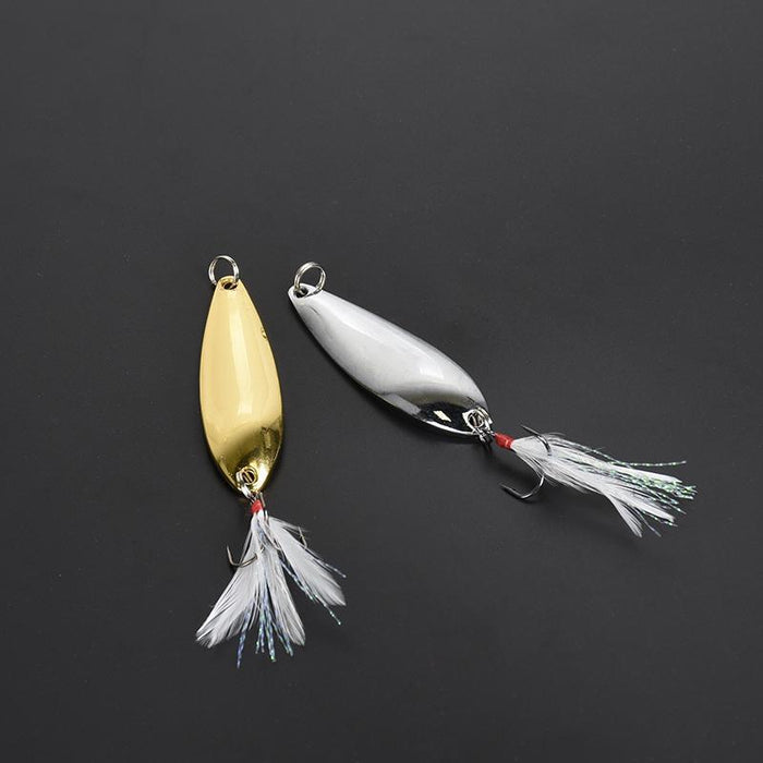 1Pcs 10G Wire Bait Single Surface Fishing Hard Lures Winter Fishing Artificial-SOISO Fishing Tackle Store-Gold-Bargain Bait Box