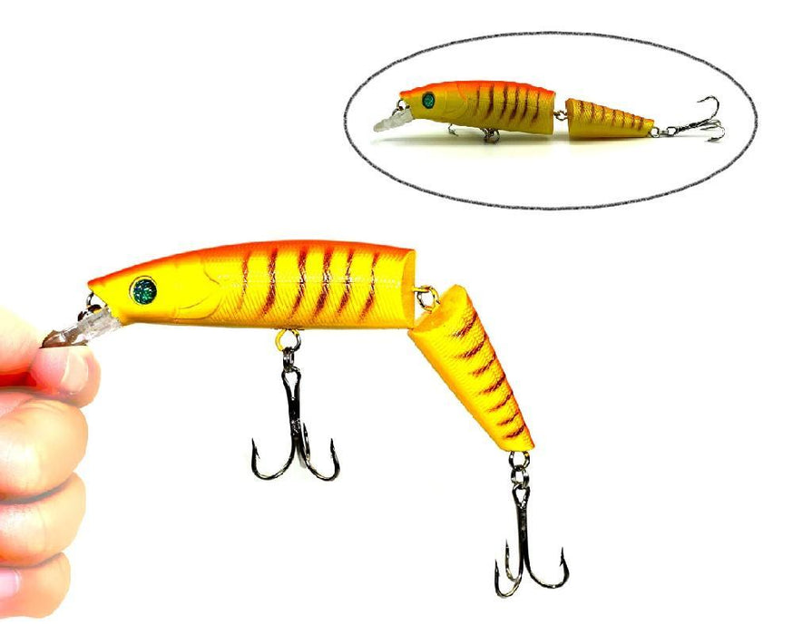 1Pcs 2 Segments Jointed 14Cm 20.2G Lifelike Fishing S Crank Bait Minnow-Hard Swimbaits-Bargain Bait Box-1-Bargain Bait Box