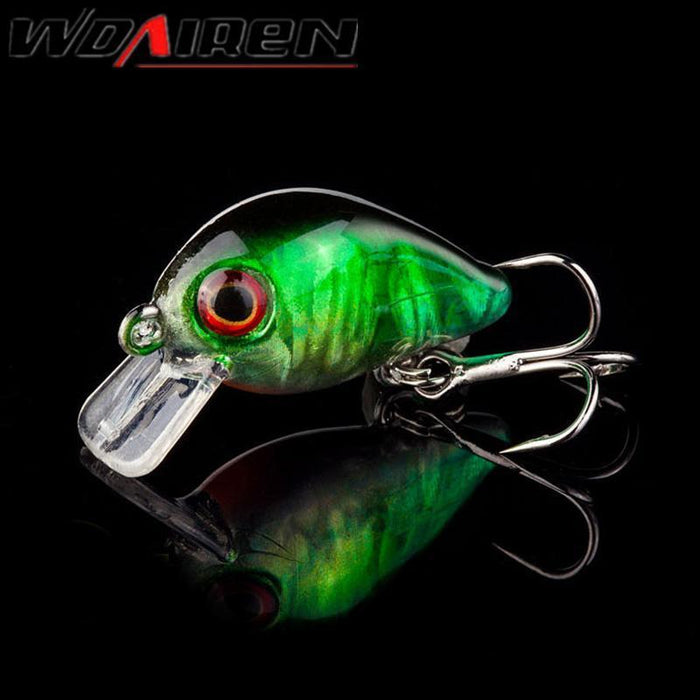 1Pcs 3Cm 1.5G Topwater Swim Fish Fishing Lure Artificial Hard Crank Bait Wobbler-WDAIREN Fishing Store-A-Bargain Bait Box