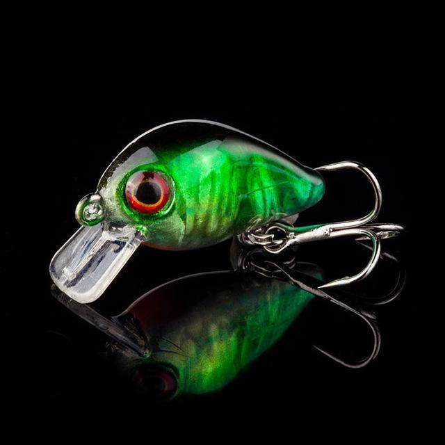 1Pcs 3Cm 1.5G Topwater Swim Fish Fishing Lure Artificial Hard Crank Bait Wobbler-WDAIREN Fishing Store-E-Bargain Bait Box