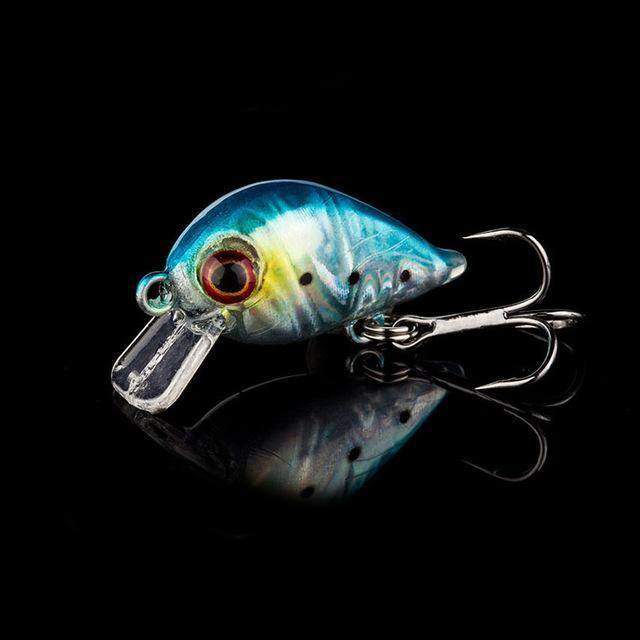 1Pcs 3Cm 1.5G Topwater Swim Fish Fishing Lure Artificial Hard Crank Bait Wobbler-WDAIREN Fishing Store-H-Bargain Bait Box