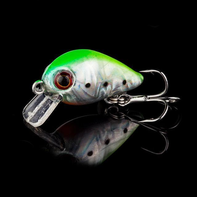 1Pcs 3Cm 1.5G Topwater Swim Fish Fishing Lure Artificial Hard Crank Bait Wobbler-WDAIREN Fishing Store-I-Bargain Bait Box