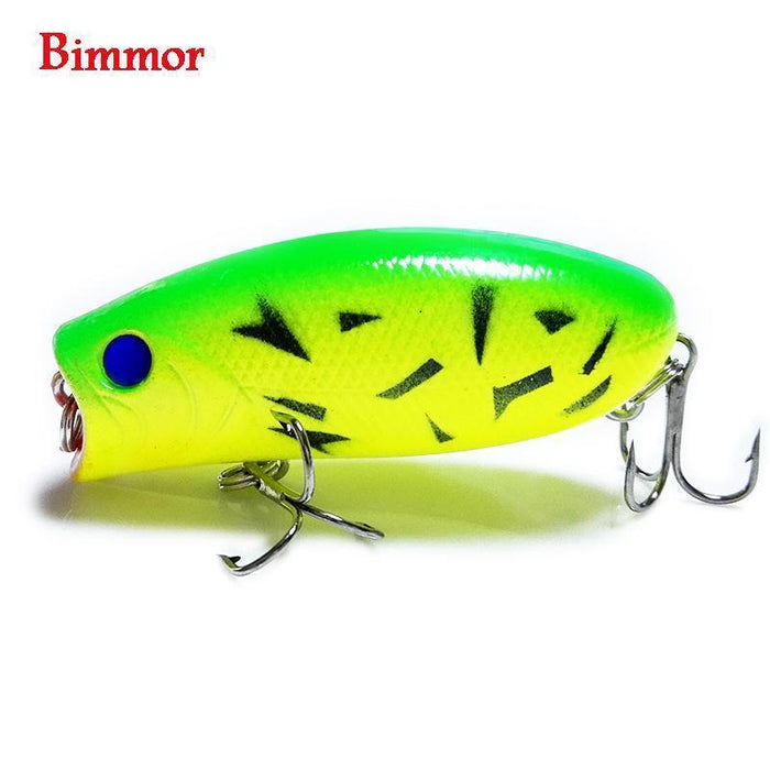1Pcs 3D Eyes Lifelike Fishing Lure 5.5Cm 11G 8# Hooks Pesca Fish Popper Lures-Shop1513314 Store-A-Bargain Bait Box