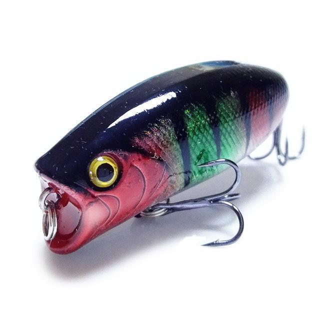 1Pcs 3D Eyes Lifelike Fishing Lure 5.5Cm 11G 8# Hooks Pesca Fish Popper Lures-Shop1513314 Store-D-Bargain Bait Box