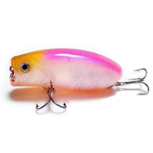1Pcs 3D Eyes Lifelike Fishing Lure 5.5Cm 11G 8# Hooks Pesca Fish Popper Lures-Shop1513314 Store-F-Bargain Bait Box
