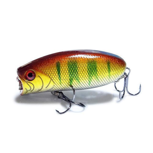 1Pcs 3D Eyes Lifelike Fishing Lure 5.5Cm 11G 8# Hooks Pesca Fish Popper Lures-Shop1513314 Store-G-Bargain Bait Box