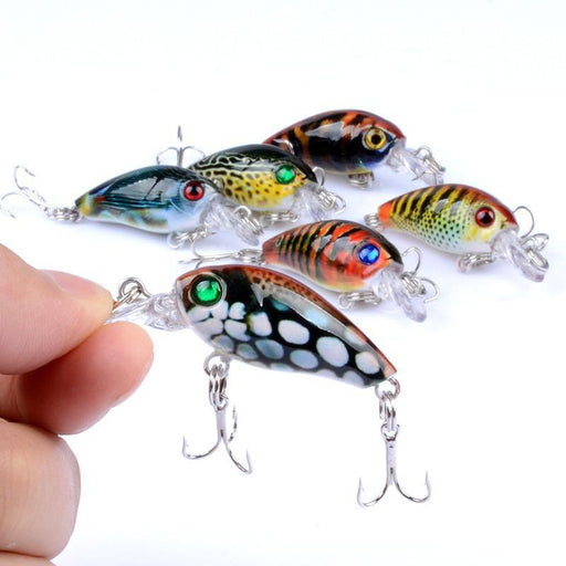 1Pcs 4.5Cm 4G Crank Fishing Lure Hard Swimbait Pesca 6 Colors Wobbler Isca-AOLIFE Sporting Store-1-Bargain Bait Box