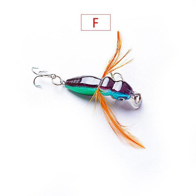 1Pcs 4Cm 3.5G Grasshopper Insects Fishing Lures Sea Fishing Tackle Flying Jig-WDAIREN fishing gear Store-E-Bargain Bait Box
