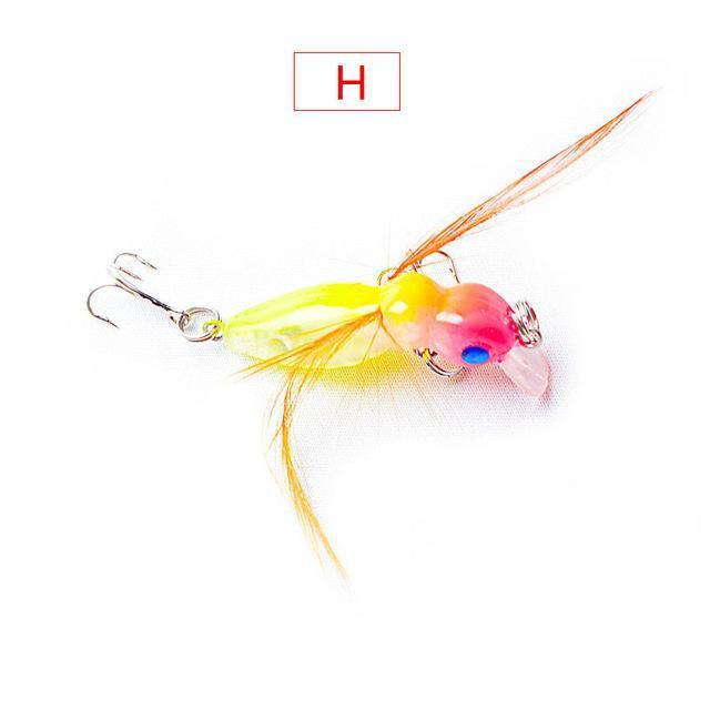 1Pcs 4Cm 3.5G Grasshopper Insects Fishing Lures Sea Fishing Tackle Flying Jig-WDAIREN fishing gear Store-H-Bargain Bait Box