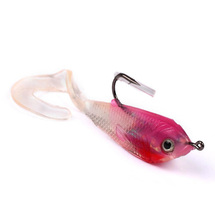 1Pcs 5.1Cm 5G High Quality Soft Minnow Lure With Hooks Fishing Silicone Bait For-Deep Sea Sporting Goods-1-Bargain Bait Box