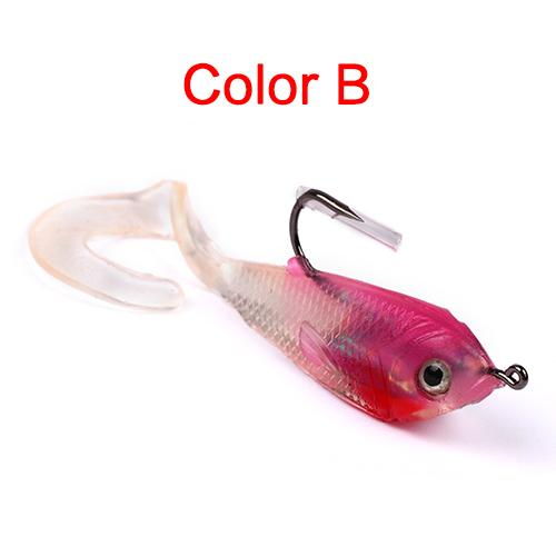 1Pcs 5.1Cm 6G Fishing Bait Fishing Silicone Bait 3D Eyes Lead 5Colors Jerkbait-Rigged Plastic Swimbaits-Bargain Bait Box-B-Bargain Bait Box