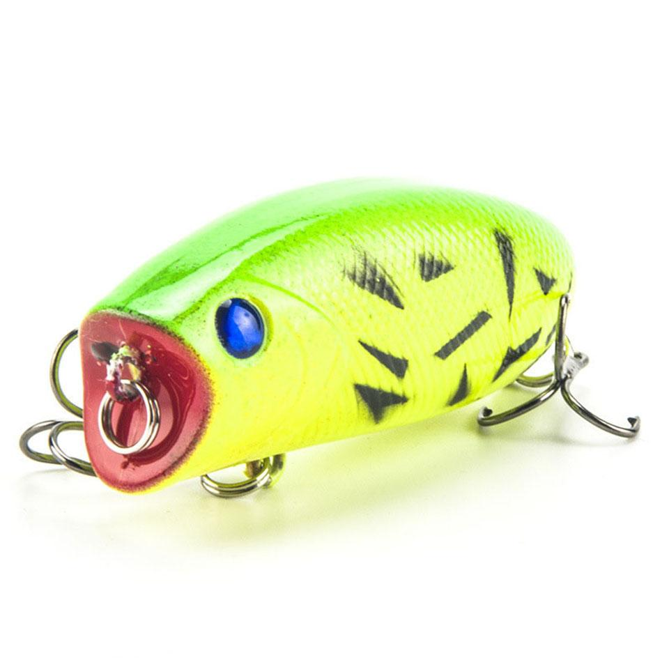 1Pcs 5.5Cm 11G Lifelike Swimbait 8# Hooks Fish Popper Lures 3D Eyes Hard Bait-Top Water Baits-Bargain Bait Box-1-Bargain Bait Box