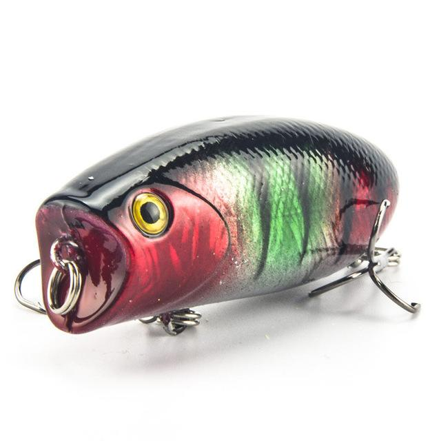1Pcs 5.5Cm 11G Lifelike Swimbait 8# Hooks Fish Popper Lures 3D Eyes Hard Bait-Top Water Baits-Bargain Bait Box-5-Bargain Bait Box