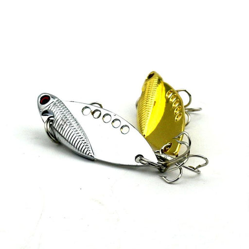 1Pcs 5Cm 11G Hard Metal Vib Musky Trout Perch Catfish Fishing Baits Fishing-Blade Baits-Bargain Bait Box-as the picture-Bargain Bait Box