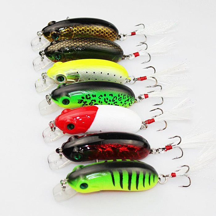 1Pcs 6Cm 10G Fishing Lures Crank Bait Swimming Crank Baits Artificial Swim-YTQHXY Fishing (china) Store-A-Bargain Bait Box